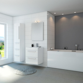 Render of bathroom.