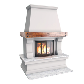 Render of fireplace.