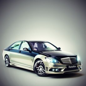 Render and custom modeling of Mercedes Carlsson CK65 RS.