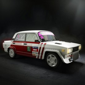 Custom modelling and rendering of drift car Vaz 2105.